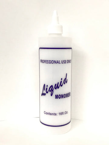 """Nail Liquid"" Labelled Bottle with Twist Cap - Available in 16 oz"