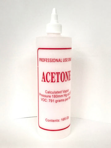 """Acetone"" Labelled Bottle with Twist Cap - Available in 16 oz"