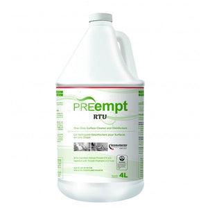 PREempt RTU Cleaner and Disinfectant - 4L( back order) - CM Nails & Beauty Supply