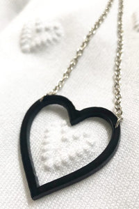 Ceci Punch Heart Necklace
