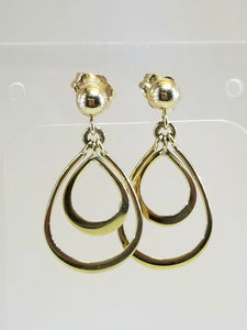 14k Double Hoop Earrings