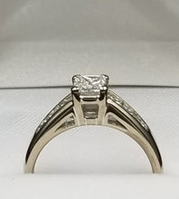 Load image into Gallery viewer, Stunning Princess Canadian Diamond Engagement set in 18k Palladium