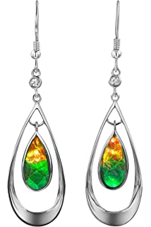 Elanor Ammolite teardrop earrings