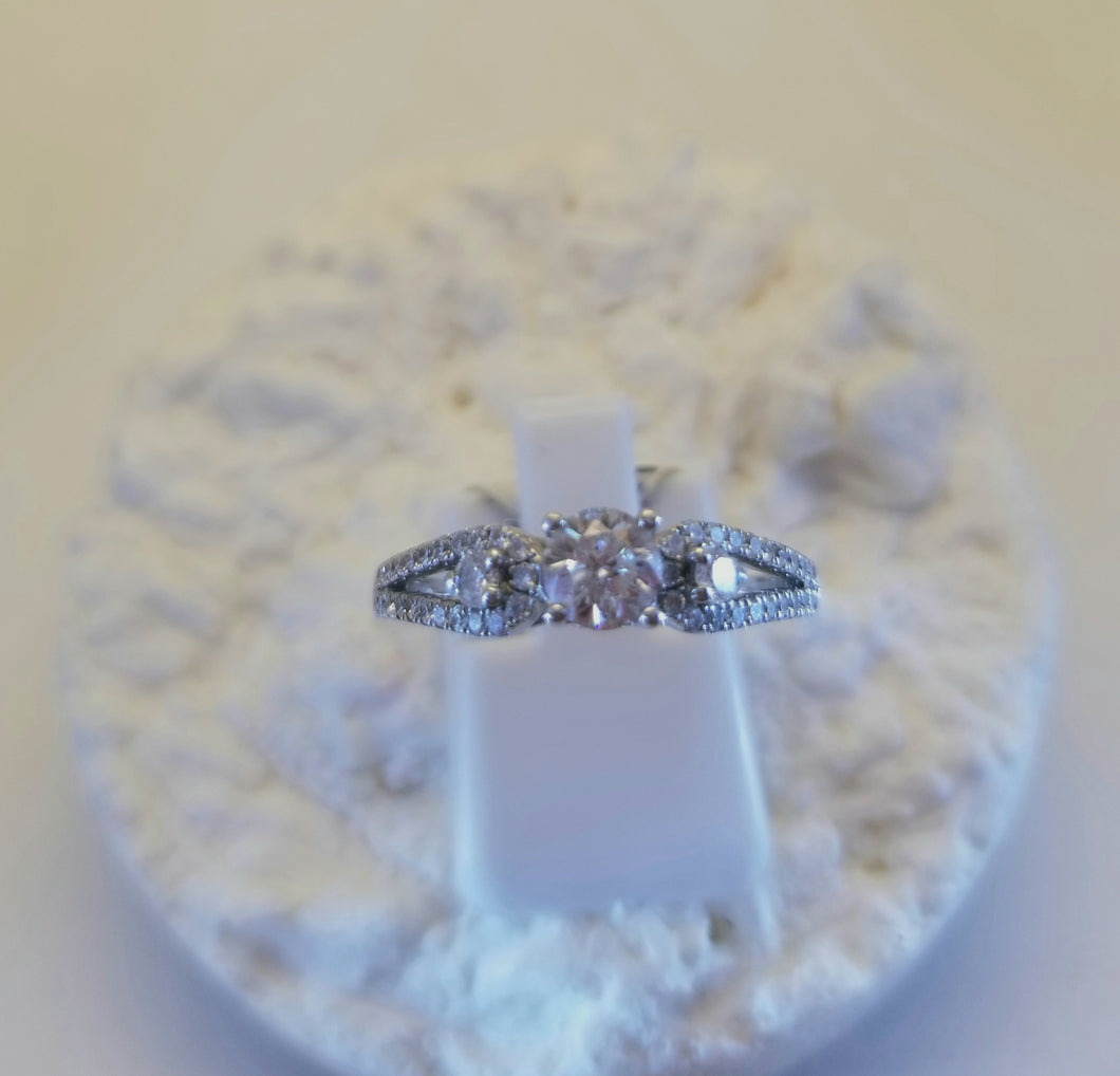 Canadian Rocks Northern Lights Diamond 14k  Engagement Ring