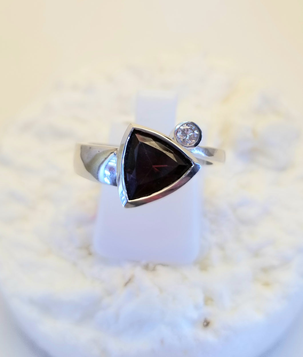 14k Gold & Diamond Garnet Ring