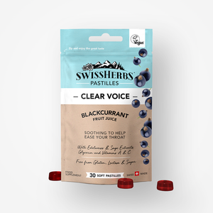 SwissHerbs Pastilles | Chewable Throat Lozenges | 100% Vegan | Sold as 3-Pack