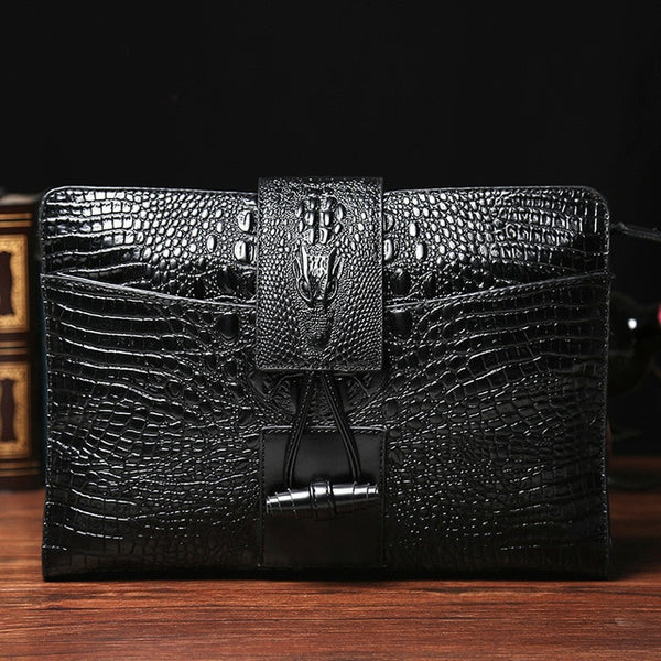 Men And Women Leather Bags Trend Crocodile - Sole Edge