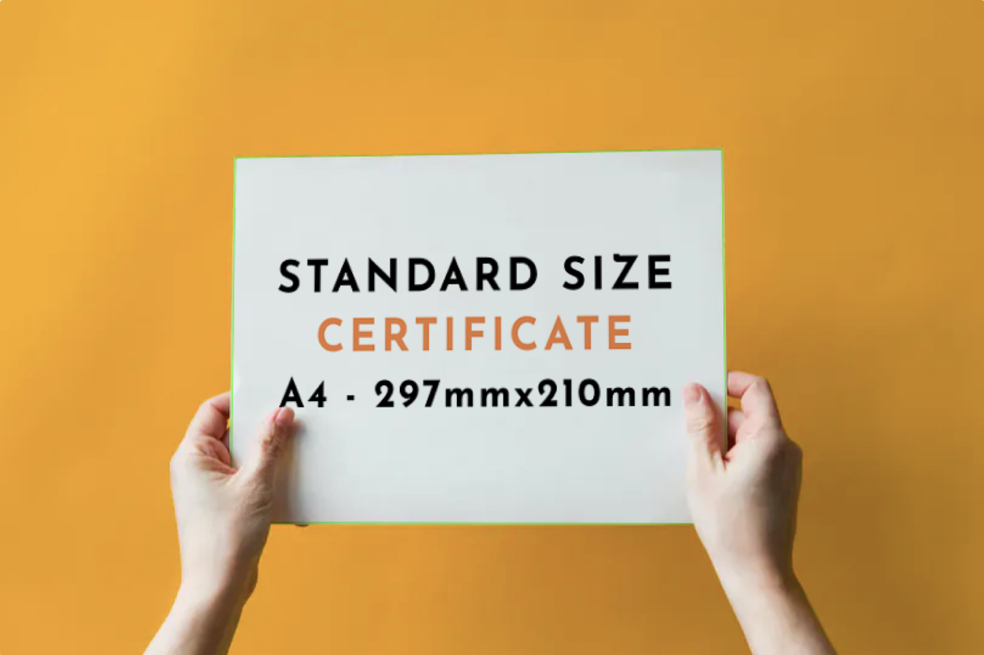 Certificate Size | What is Certificate Print Size? | Infinity Prints