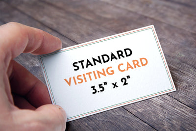 What is Visiting Card Size?