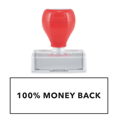 100% MONEY BACK Pre Inked Stamp | Infinity Prints