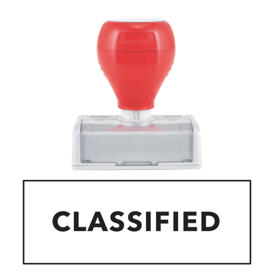 CLASSIFIED Pre Inked Stamp