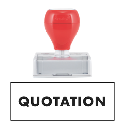 QUOTATION Pre Inked Stamp