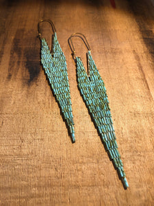 Bugle Drop Earrings