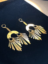 Load image into Gallery viewer, Brass Paddle earrings
