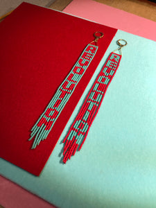 REVOLUTION Beaded Fringe Earrings