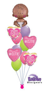 Bouncing Baby Girl Balloon Bouquet
