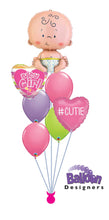 Load image into Gallery viewer, Bouncing Baby Girl Balloon Bouquet