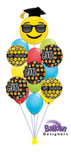 Load image into Gallery viewer, Graduation Emoji Balloon Bouquet