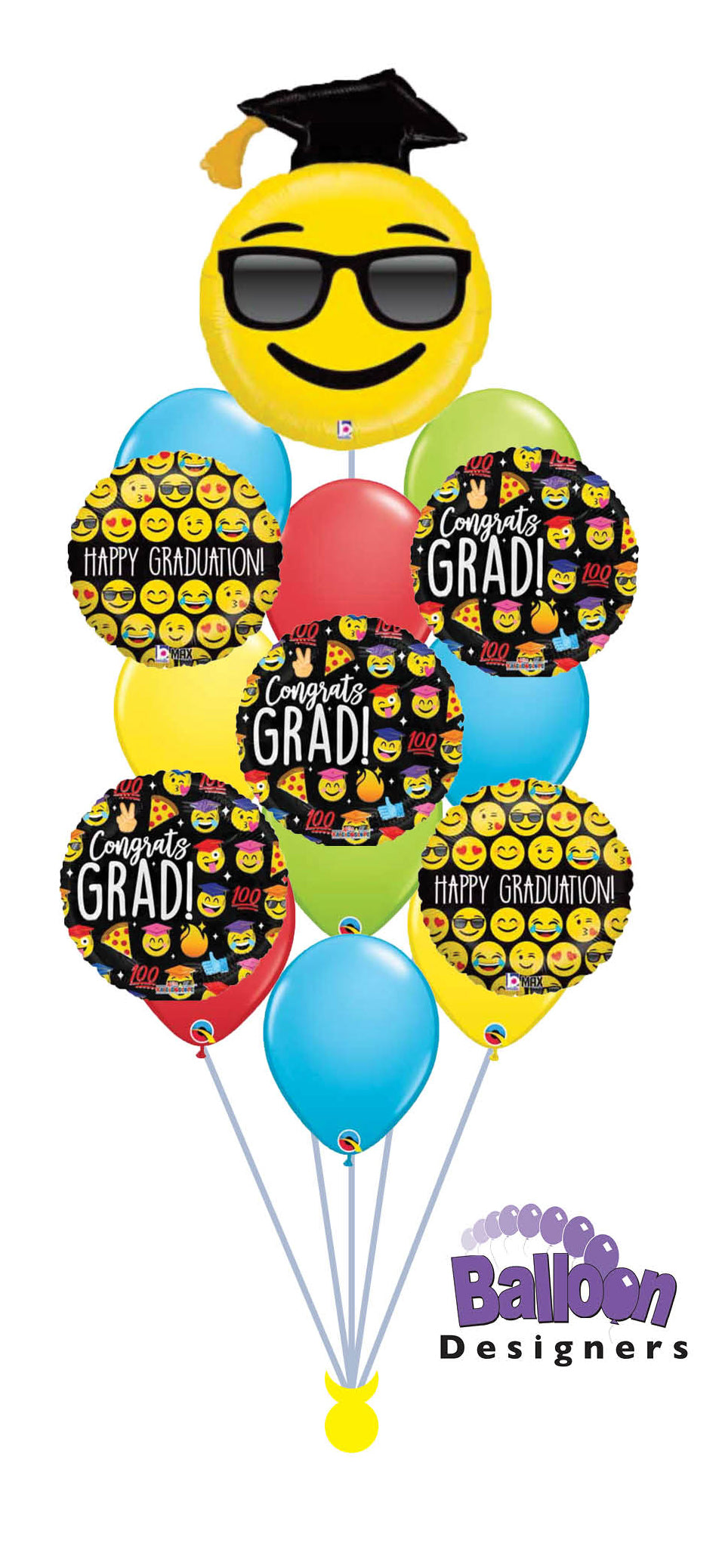 Graduation Emoji Balloon Bouquet