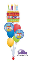 Load image into Gallery viewer, Birthday Cake Balloon Bouquet