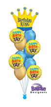 Load image into Gallery viewer, Birthday King Balloon Bouquet