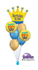 Birthday King Balloon Bouquet