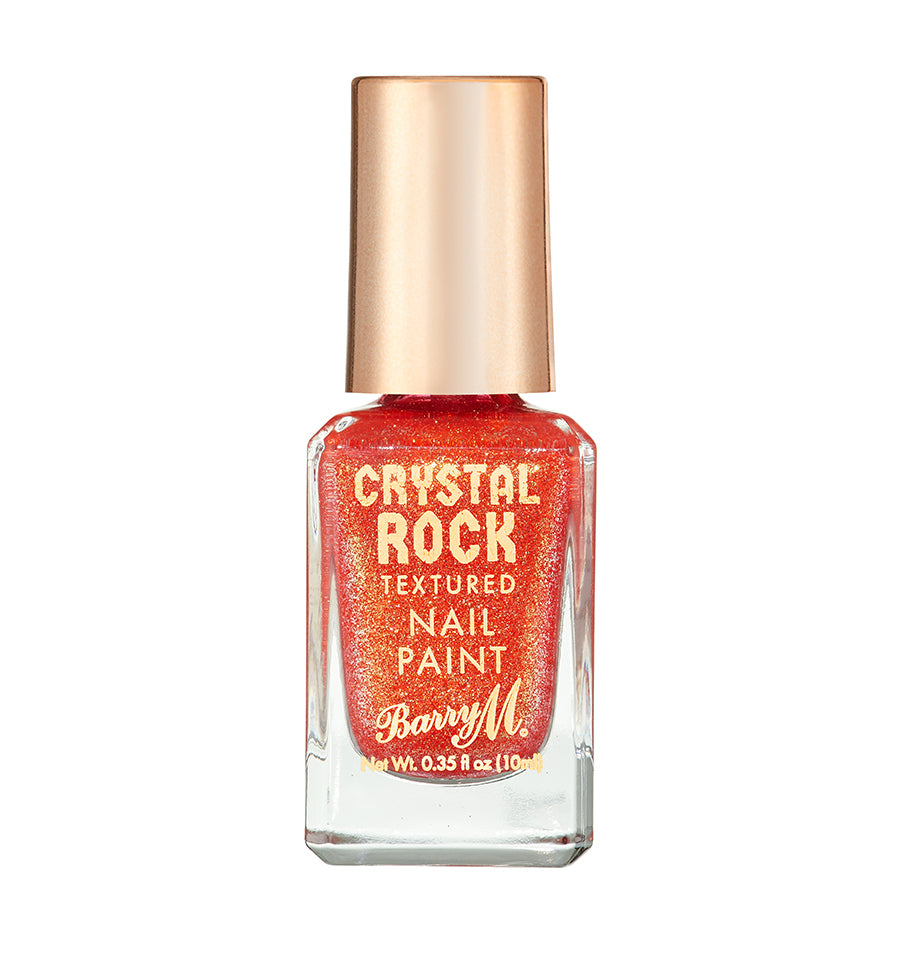 Crystal Rock Textured Nail Paint Coral Sunstone
