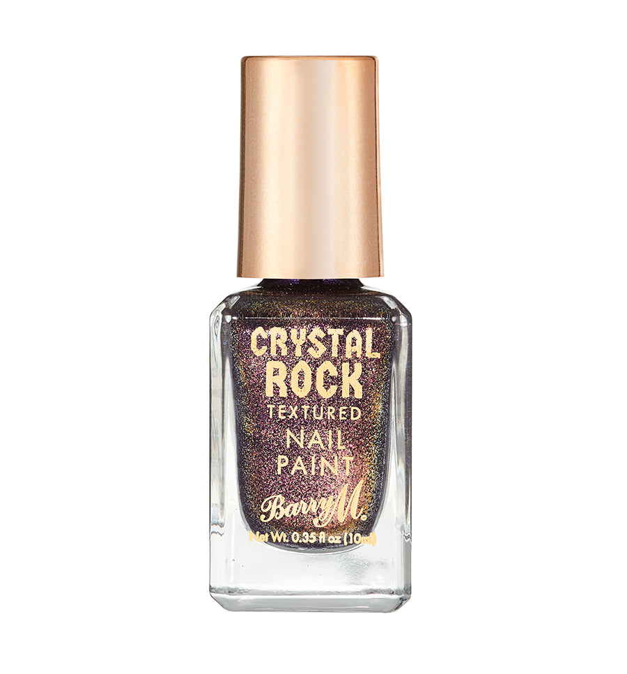 Crystal Rock Textured Nail Paint Purple Agate