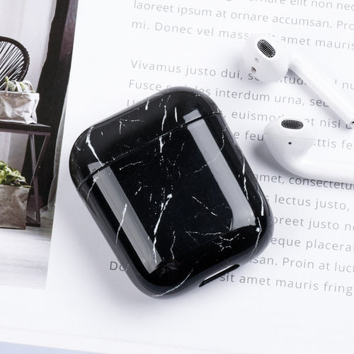 Black Marble Airpod Case