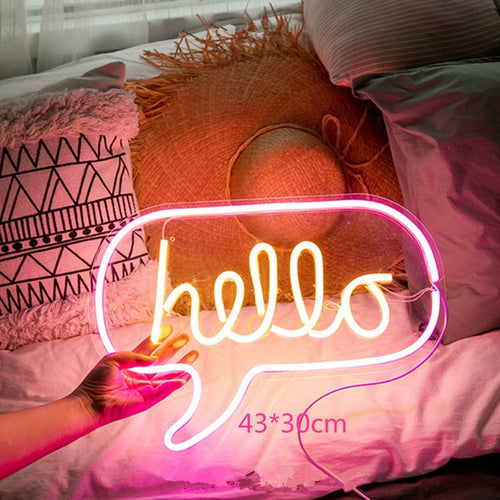Hello Neon Wall Sign