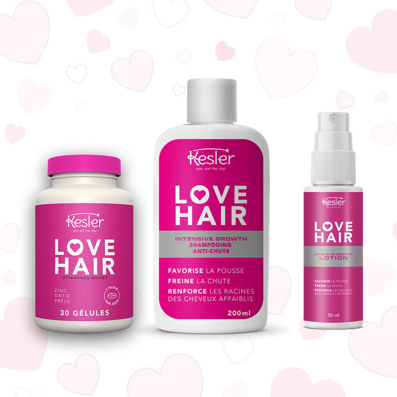 LOVE HAIR - VITAMINES + SHAMPOING + LOTION