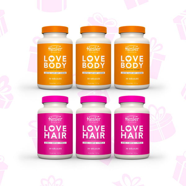 3 LOVE HAIR + 3 LOVE BODY