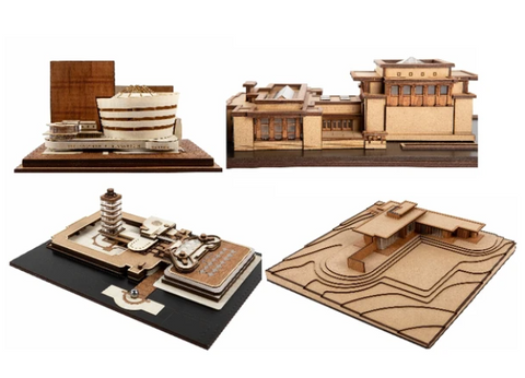 Wright Stuff architectural model collection