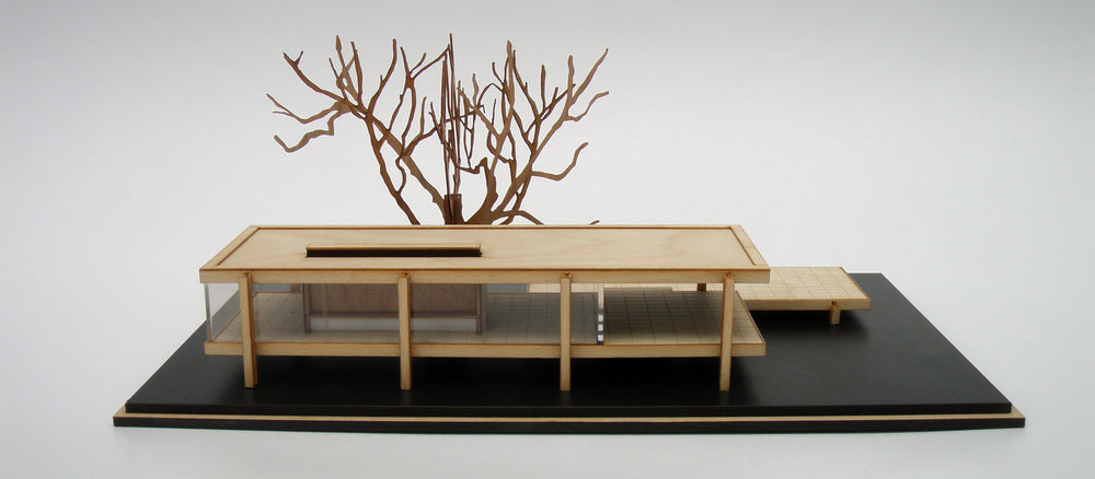 Farnsworth House, Mies van der Rohe, wood scale model kit
