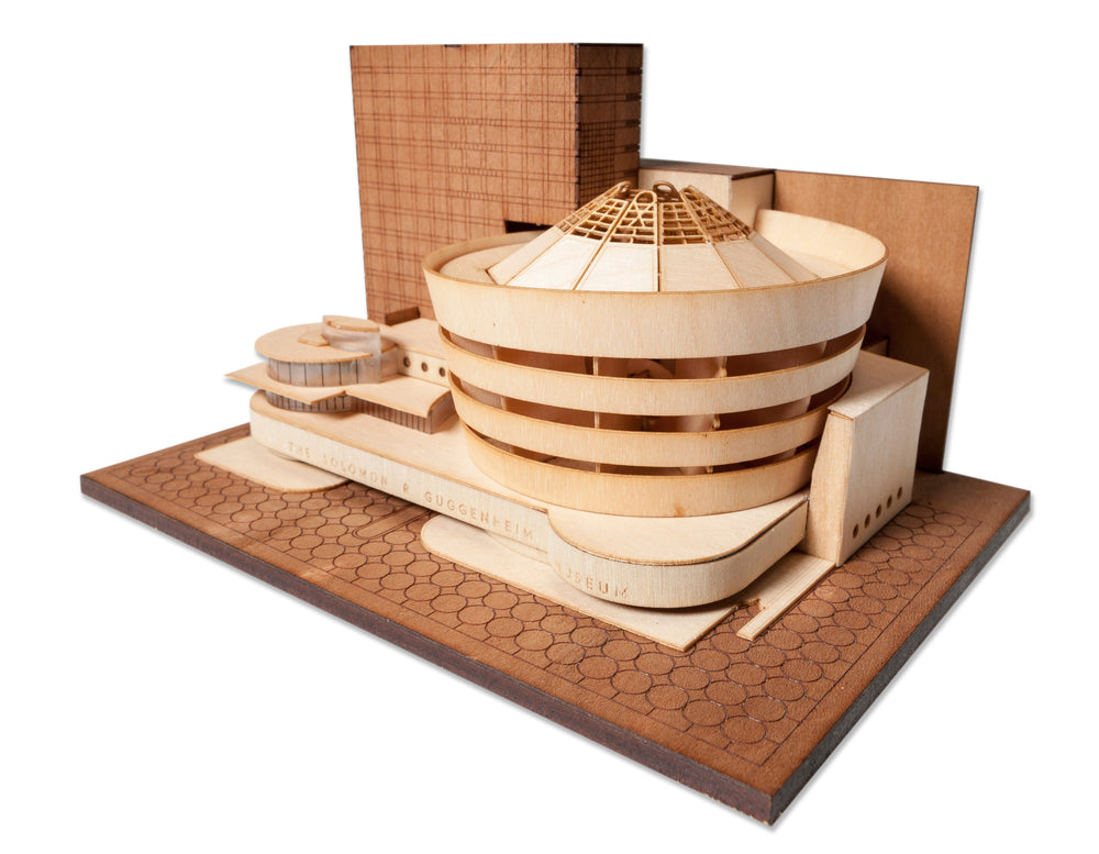 Guggenheim Museum, scale model kit, Frank Lloyd Wright, FLW