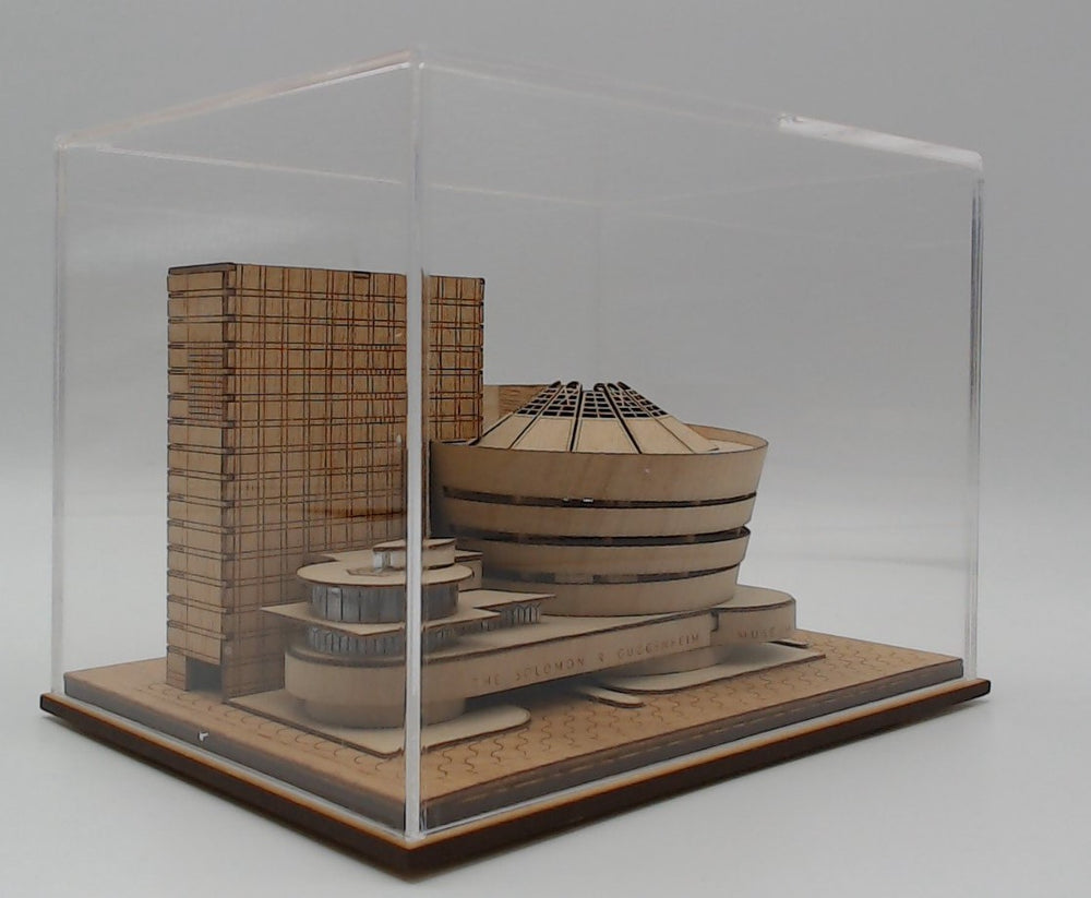 Guggenheim Museum, Frank Lloyd Wright, display case