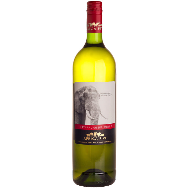 Stellenview Wine's Africa Five Natural Sweet White is an easy-drinking sweet white wine, with tropical fruity flavours. Enjoy our Natural Sweet White Wine with poultry dishes, plates of pasta or a seafood dish.