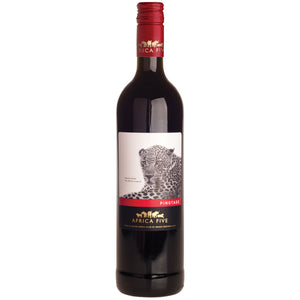 Stellenview Wine's Africa Five Pinotage (2018). Proudly South Afican varietal displays sweet dark fruity flavours with fine grained tannins. A balanced wine, perfect for red meat dishes.