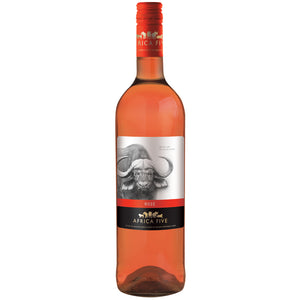 Stellenview Wine's Africa Five Rose (2019). A fresh Rosé with light cherry pink colour, laden with berry. Rasberry notes on the nose, carried through by a sweet lingering after taste.