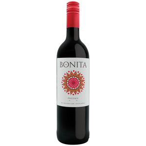Stellenview Wine's Bonita Pinotage (2018). This dark plum coloured Pinotage. Is earthy with bold fruity tones. With chocolaty and gentle spicy hints of banana. A good combination of light red berry fruits and a gentle oaky spice. Easy everyday drinking.