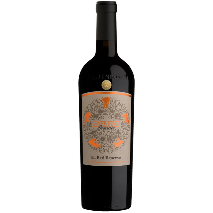 Cape Five Reserve Organic Red 2011 - pricing per case of 6 x 750ml