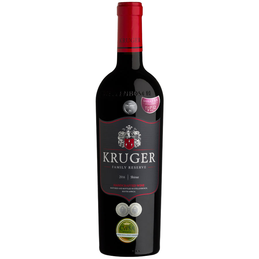 Kruger Family Reserve Shiraz 2016 - pricing per case of 6 x 750ml