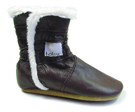 Bobux Soft Soled Shoes Chocolate Boot
