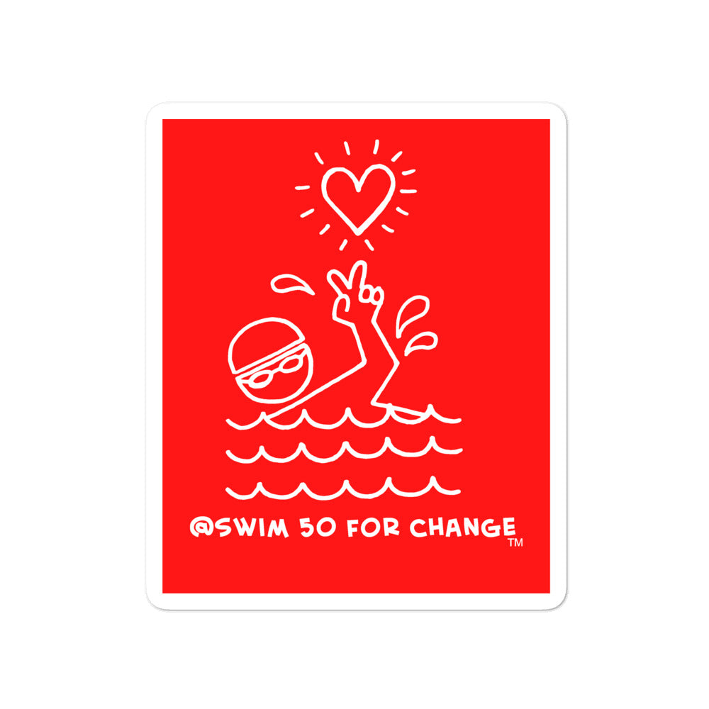 Swim 50 for Change Stickers