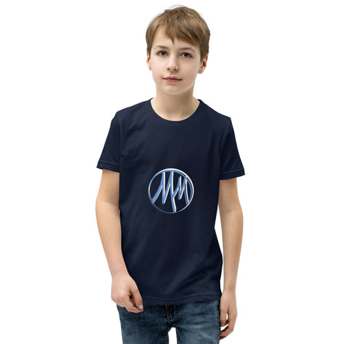 Unisex Youth Short Sleeve T-Shirt (Navy)