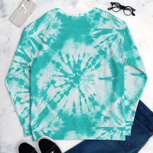 Load image into Gallery viewer, Unisex Tie Dye Sweatshirt Teal (Beisel)