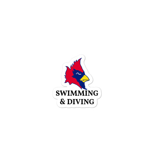 Cardinal Swim & Dive stickers