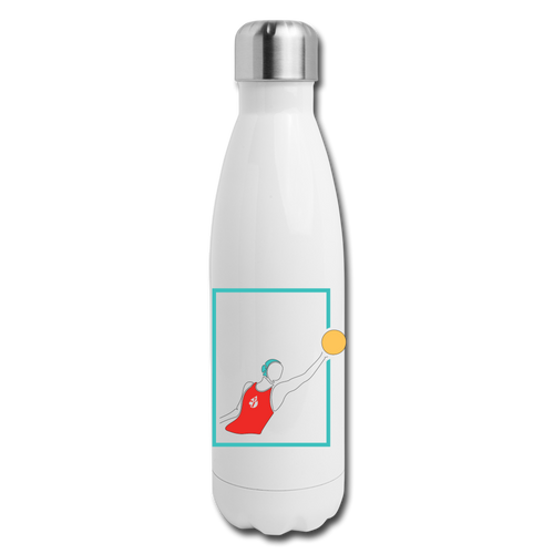 Female Water Polo Insulated Stainless Steel Water Bottle - white