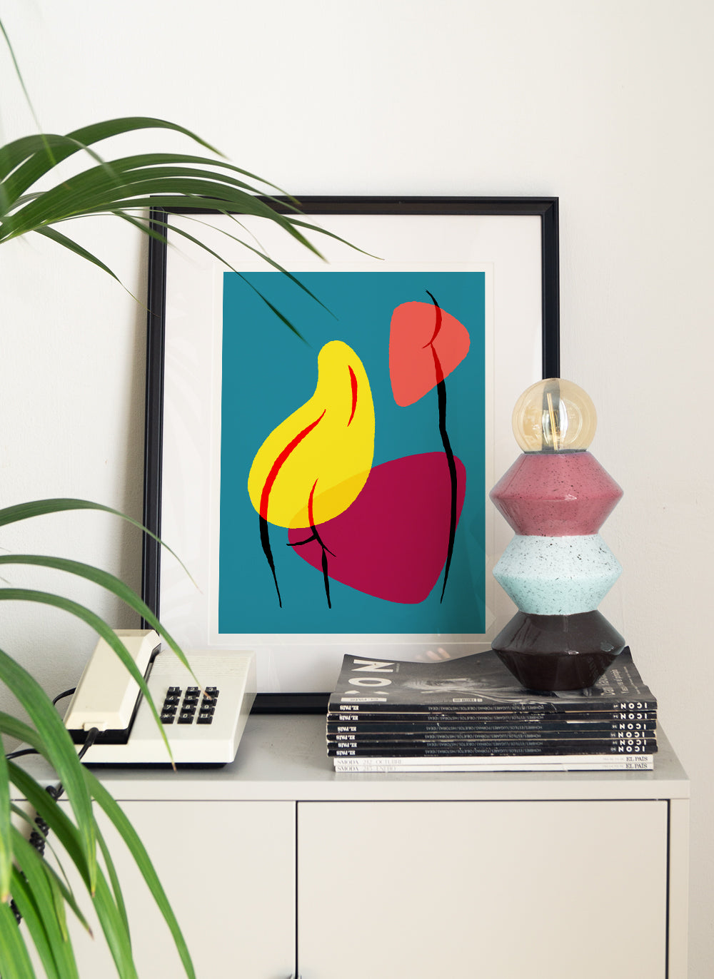 Femenine art print abstract