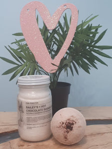 Bailey's and Hot Chocolate Sugar Scrub + Chocolate Bath Bomb